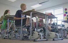 Pedaling to success: Wake County program helps students channel energy ~ Twiddling fingers and tapping toes are common to most middle school students. But a new program in Wake County is working to tackle the issue by channeling a student's energy in another way.