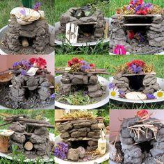 Mud brick fairy homes made by kids Mosaic8081d5ad72bc68ef274f7f66ac45bb25469a4ebe