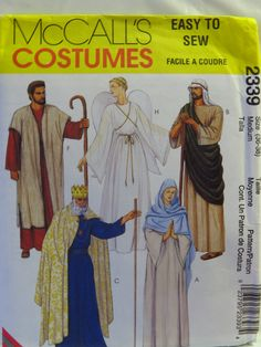 McCall's 2339 Adult's Nativity Costumes