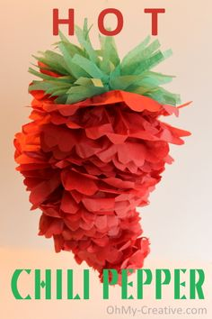 Cinco de Mayo/Mexican Fiesta Chili Pepper Party Pom - Oh My Creative