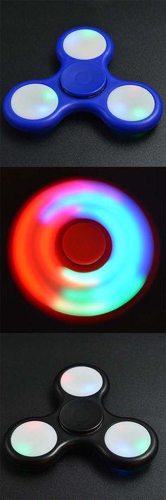 Color Changing LED Lights Focus Toy Finger Gyro