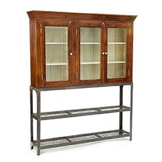 Iron and Wood Hutch at HudsonGoods.com.  Would love this in my kitchen!