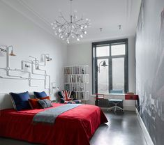 The wall of the children's bedroom turned into a London centre and the lamps above the bed — to the underground map. Underground Map, Loft Style Apartments, New York Loft, Westminster Abbey, Kids Bedroom, Architecture Design, Blanket, Elegant, Wall