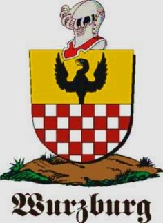 Wurzburg Family Crest / Wurzburg Coat of Arms [Personalized Gifts – Your own Family Crest order now ]