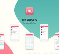 My Wedding is an app Startup where you can organize everything related to your wedding.  UI design was done in 2016.    #app #wedding #marriage #ios #iphone #icon #design #ux #ui #startup #mywedding #marry #celebration