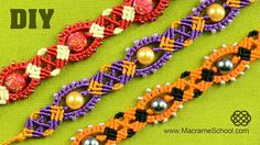Beaded Macrame Bracelet Tutorial #Macrame #Bracelet #Tutorial