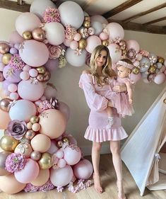 Balloon Flowers, Balloon Arch, Balloon Garland, Paper Flowers, Sweet 16 Party Decorations, Balloon Decorations, Baby Shower Decorations, Baby 1st Birthday, Sweet 16 Birthday