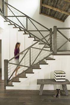Railing Idea                                          Like floor. Different for stairs from other selections, but i like it. Weathered gray wood.