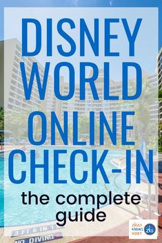 Do you want to skip the check-in process? If you are looking to save time and go straight to your resort hotel room, the Disney World Online Check-In system is for you! It's super easy to use and will start your Walt Disney World vacation off in the right way. Find all the details in this post. #disney #disneyplanning #disneyvacations #disneytravel #disneyworld