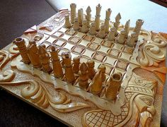 Big wooden chess set, backgammon set, checkers set