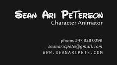 SEAN ARI PETERSON Character Animator 2015 Reel on Vimeo