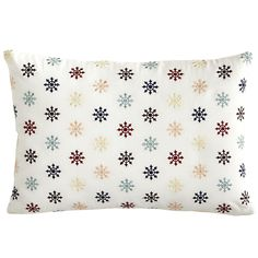 Multi Starburst Embroidered Pillow - Lumbar