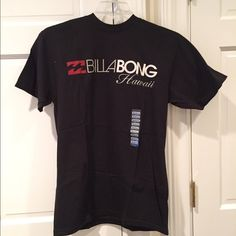 NWT Billabong Hawaii T-Shirt Billabong Hawaii T-Shirt- NWT Black Size Adult Medium 94% Cotton 6% Organic Cotton Billabong Tops