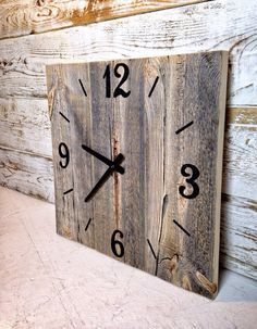 Rustic Barn Wood Clock  Large Rustic Barnwood by TheRusticPalette