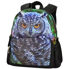 Bistar Galaxy Canvas 3D Animal Girls School Backpack Kids This is a super cute backpack and my son loves it. He fills it up with the toys he wants to take when we leave the house. The zipper is nice and sturdy and I have no fear of it breaking.  #ad