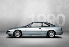 1990 - BMW 8 SERIES (E31) - The BMW 850i shows how BMW envisions a modern luxury coupé in 1990. It brings together a streamlined silhouette, dynamic proportions and a particularly high level of ride comfort. Photo Credit: BMW