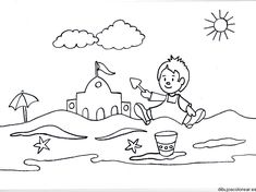 Coloring Pages summer season pictures for kids drawing: Free Beach Summer Coloring Pages Beach Coloring Pages, Disney Printables, Free Beach, Drawing For Kids, Summer Colors, Printable Coloring Pages, Kids Cards, Summer Beach, Seasons