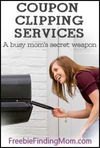 Coupon Clipping Services - a busy mom's secret weapon! Check them out at Freebiefindingmom.com #deals #coupons