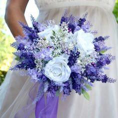 Svatební kytice Levandulová, spona a korsáž / Zboží prodejce kultdesign | Fler.cz Floral Wreath, Wreaths, Flowers, Decor, Pictures, Wedding, Garlands, Dekoration, Flower Crowns