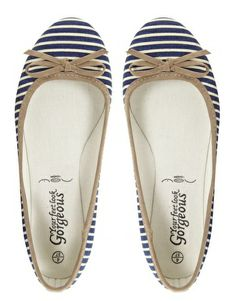 Image 3 ofNew Look Lazy Stripe Flat Shoes
