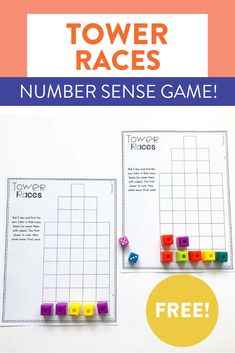This free number sense activity is a great way to get students seeing and feeling each number as they roll the dice and race to be the first to fill their tower! You can see how to play and grab the FREE game sheets over on the blog!
