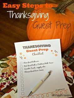 Easy Steps to Thanksgiving Guest Prep (Free Printables to Help)