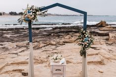 Unique and simple arch for beach wedding by www.creteforlove.com