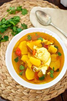 Caldo de papas y cilantro, receta canaria