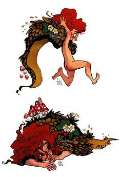 forest girl doodles by Fukari on DeviantArt