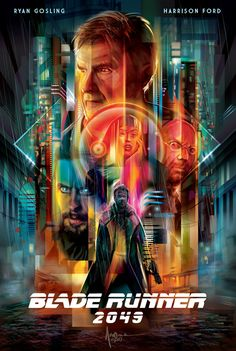 """geekynerfherder: """" 'Blade Runner by Orlando Arocena, part of a tribute poster series from the Poster Posse artists collective. Go here to see Phase One and Phase Two of the tribute poster series. Science Fiction, Fiction Movies, Rick Deckard, Sci Fi Films, Cinema Movies, Indie Movies, Cinema Posters, Film Posters, Denis Villeneuve"""