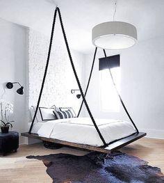 10 ideas para hacer o instalar una cama colgante en el dormitorio pallet bedroom furniture hanging beds and bedrooms