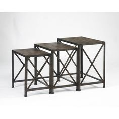 Signature Design by Ashley Vennilux Gray/Brown Nesting End Tables (Set of 3) | Overstock.com Shopping - The Best Deals on Coffee, Sofa & End Tables