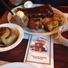 Check Out Henry\'s World Famous Hi-Life in San Jose, CA as seen on Man vs Food and featured on TVFoodMaps. Known for Henry's World Famous Hi-Life, opened in 1960, serves steaks, chicken, and pork chops but is most noted for its baby back ribs