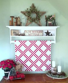 Cornbread & Beans Quilting and Decor Quilt Display, Country Sampler, Red And White Quilts, Small Quilts, Quilt Making, Mittens, Cornbread, Beans, Quilting