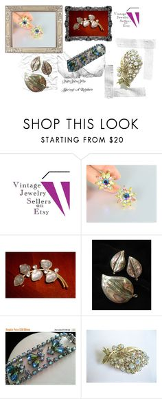 """""""Fast Fave Five ~ Springs a Rainbow"""" by vintagejewelrysellers ❤ liked on Polyvore featuring Trifari, CORO and vintage"""