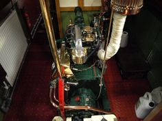 A vintage Ruston Hornsby engine of narrowboat called Intrepid