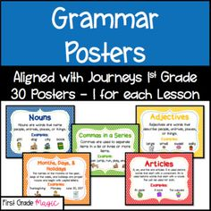 Journeys lesson plans first grade lesson 8 teaching resources journeys first grade grammar posters fandeluxe Image collections