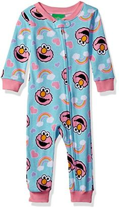 Sesame Street Baby Girls Cotton Onesie Elmo Mint 18M -- Read more reviews of the product by visiting the link on the image.-It is an affiliate link to Amazon. #BabyClothing