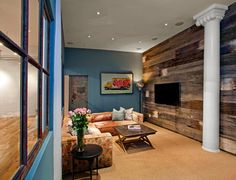 Reclaimed Wood Accent Wall -Variation of Color