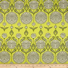 Joel+Dewberry+Birch+Farm+Chrysanthemum+Sage from @fabricdotcom  Designed+by+Joel+Dewberry+for+Free+Spirit,+this+cotton+print+is+perfect+for+quilting,+apparel+and+home+decor+accents.++Colors+include+cream+and+shades+of+green.