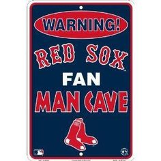 BOSTON RED SOX MLB MAN CAVE FAN CAVE METAL SIGN