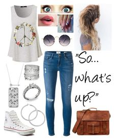 """Untitled #595"" by girly-geek ❤ liked on Polyvore featuring Frame, Converse, Avenue, Estella Bartlett, Music Notes and Spitfire"