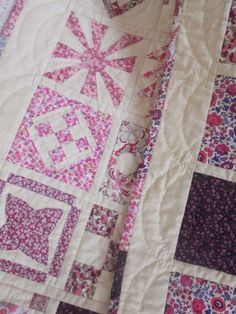 Dear Jane quilt in Liberty of London fabrics by Jolanda - Liberty Dear Jane.  Hand quilted.