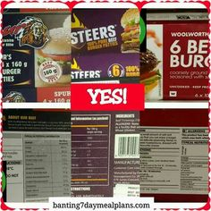 Yes burger patties Banting Diet, Banting Recipes, Lchf, 7 Day Meal Plan, Grocery Lists, Beets, Real Food Recipes, Meal Planning, Cereal