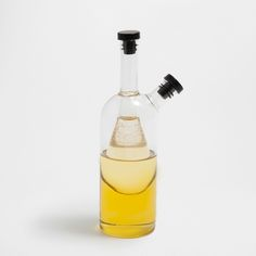 Image 1 of the product Glass oil bottle with contrasting lid
