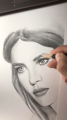 Work in progress. Drawing of Natalia Vodianova - Time lapse video of drawing a . Work in progress. Drawing of Natalia Vodianova - Time lapse video of drawing a portrait Pencil Art Drawings, Realistic Drawings, Art Drawings Sketches, Drawing Art, Pencil Portrait Drawing, Drawing Portraits, Caricature Drawing, Drawing Ideas, L'art Du Portrait