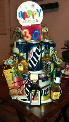 Beer cake for men. Lisa, help me make this!!