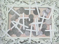 Confetti Faith Baptism White & Silver by GoldenNestStudio on Etsy