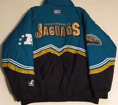 Vintage Jacksonville Jaguars XL Coat Stripes NFL Pro Line Logo Athletic in Sports Mem, Cards & Fan Shop, Fan Apparel & Souvenirs, Football-NFL | eBay