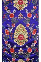 Mazarine-Blue Tibetan Brocade Fabric from Banaras with Hand-woven Roses, Fabrics Pure Silk Handloom BrocadeWeaver Kasim Family of Banaras Indian Textiles, Indian Fabric, Designer Wallpaper, Wallpaper Designs, Brocade Fabric, Large Flowers, Hand Weaving, Tapestry, Pure Products